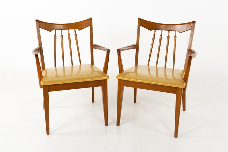 Mid Century Walnut Dining Chairs - Set of 6 For Sale 2