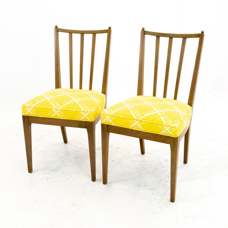 Mid Century Walnut Dining Chairs, Set of 6 For Sale 2