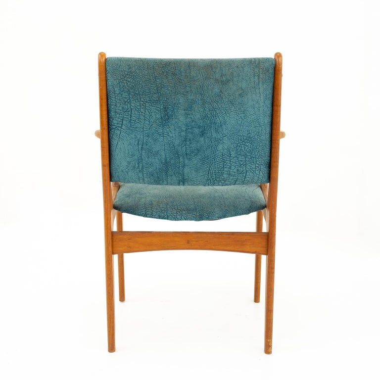 Mid Century Teak Dining Chairs, Set of 6 For Sale 2