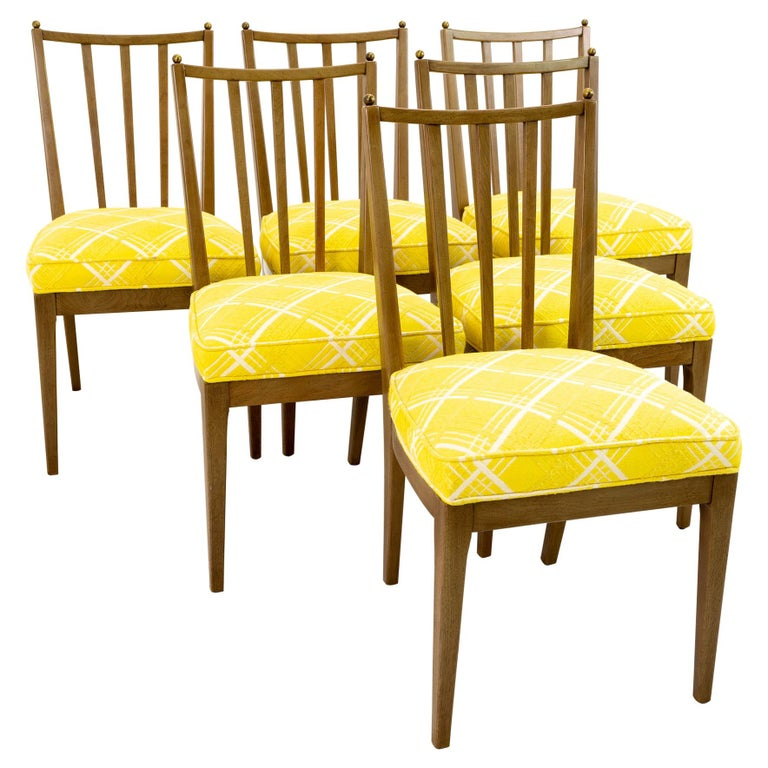 Mid Century Walnut Dining Chairs, Set of 6 For Sale