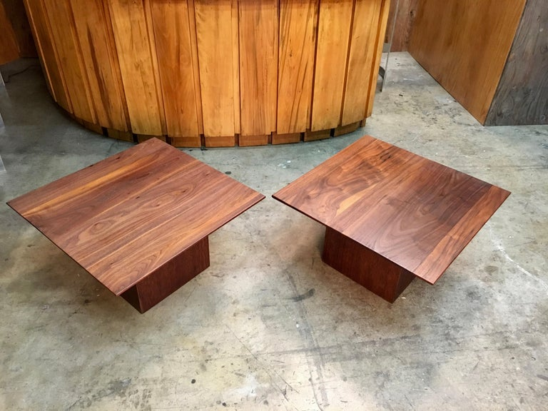Midcentury Walnut End Table For Sale 1