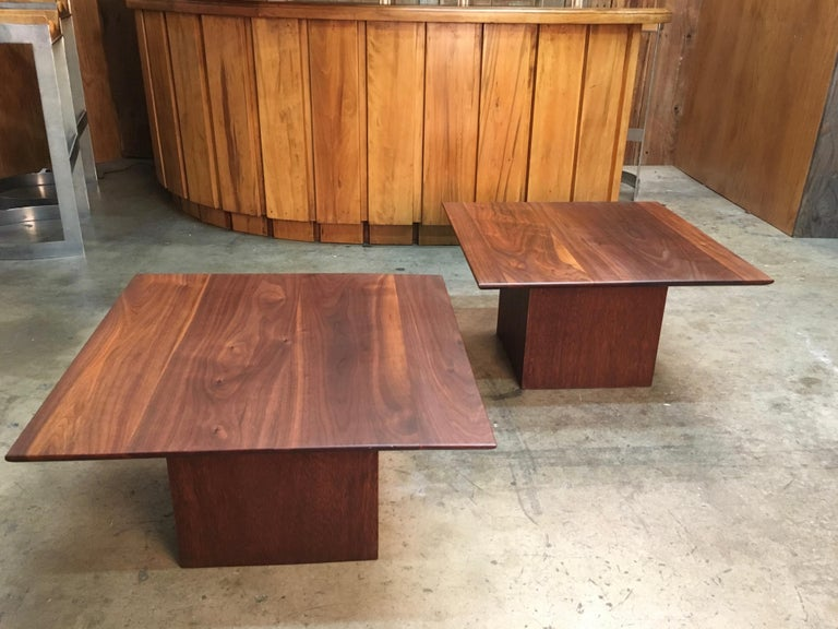Midcentury Walnut End Table For Sale 2