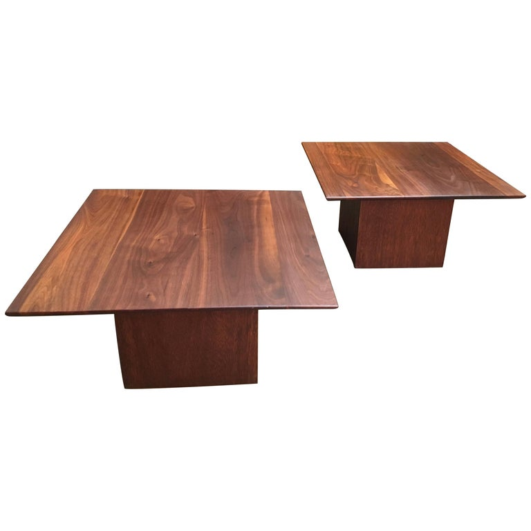 Midcentury Walnut End Table For Sale