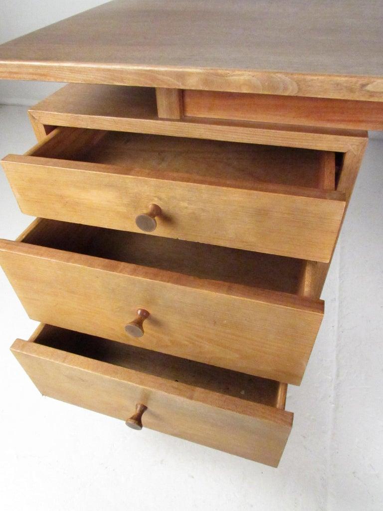 Midcentury Walnut Floating Top Desk For Sale 5