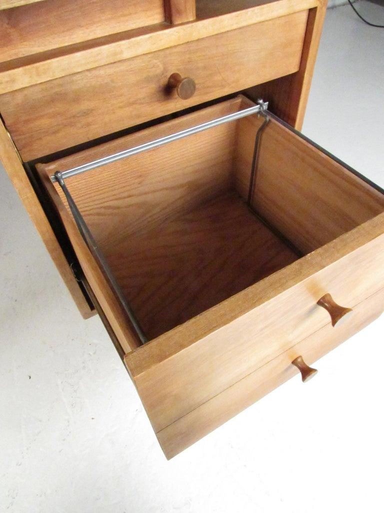 Midcentury Walnut Floating Top Desk For Sale 6