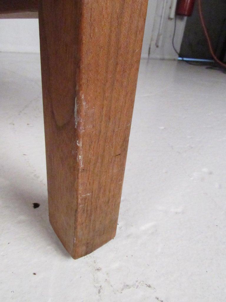 Midcentury Walnut Floating Top Desk For Sale 7