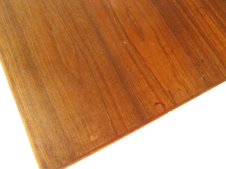 Midcentury Walnut Floating Top Desk For Sale 8
