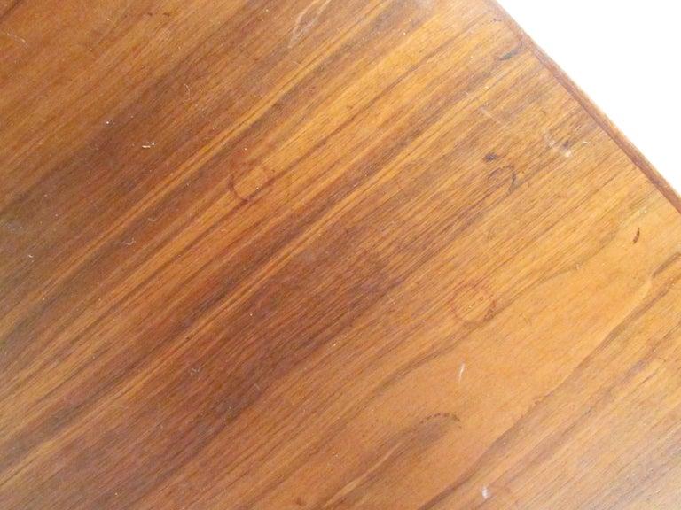 Midcentury Walnut Floating Top Desk For Sale 9