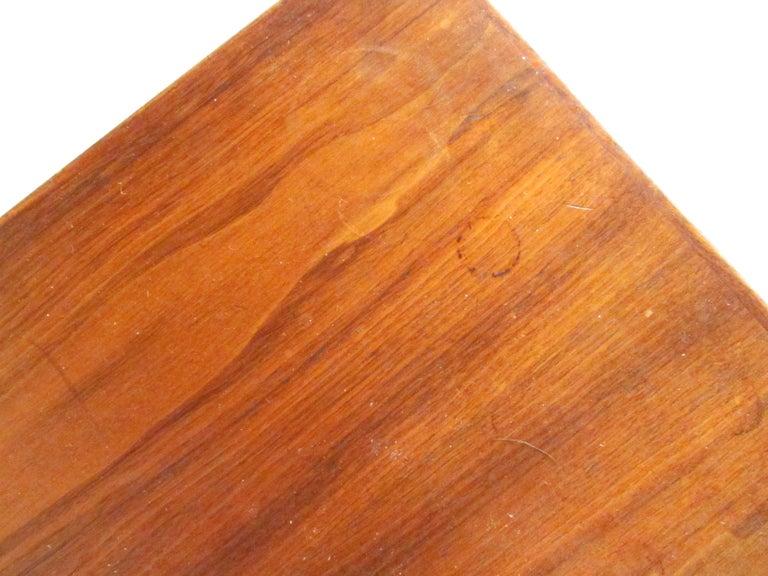 Midcentury Walnut Floating Top Desk For Sale 10