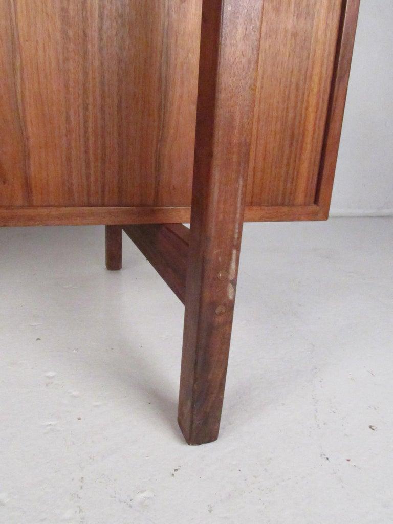 Midcentury Walnut Floating Top Desk For Sale 11