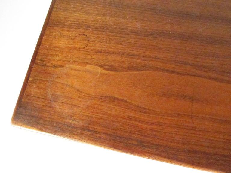 Midcentury Walnut Floating Top Desk For Sale 12