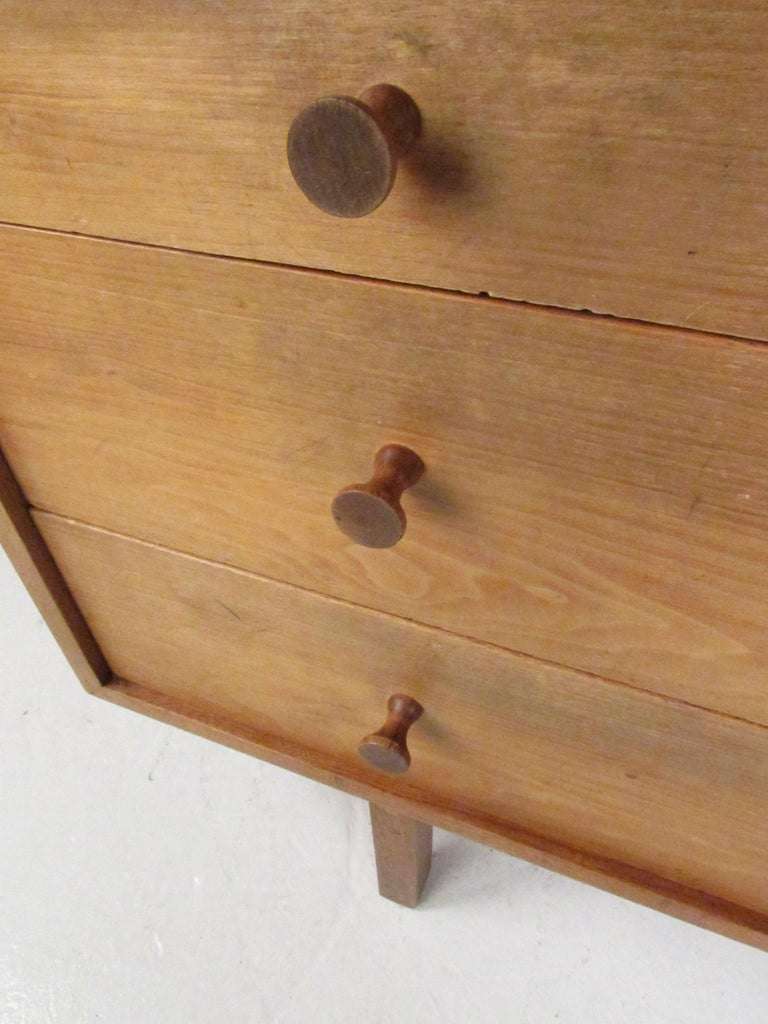 Late 20th Century Midcentury Walnut Floating Top Desk For Sale
