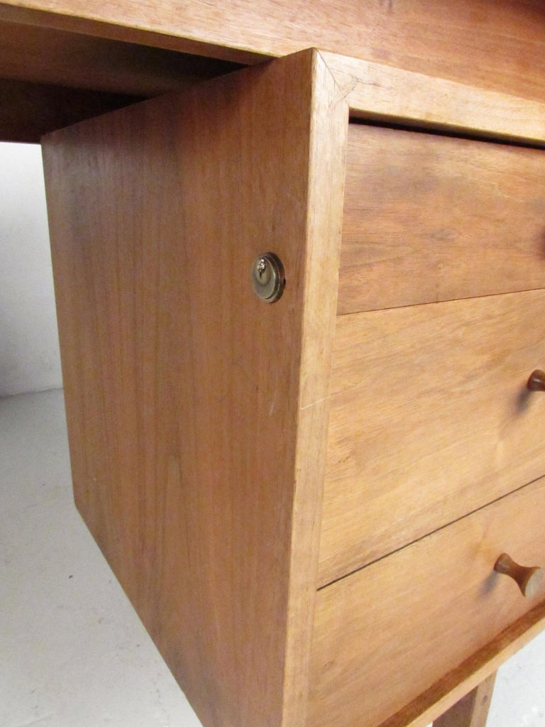 Midcentury Walnut Floating Top Desk For Sale 1