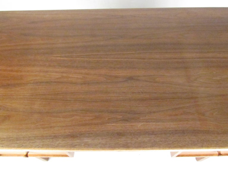 Midcentury Walnut Floating Top Desk For Sale 3