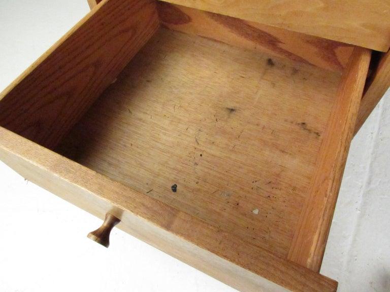 Midcentury Walnut Floating Top Desk For Sale 4