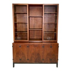 Mid-Century Walnut Hutch / China Cabinet by Milo Baughman for Directional