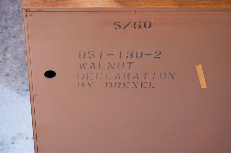 Midcentury Walnut Illuminated Credenza by Kipp Stewart for Drexel Declaration For Sale 12
