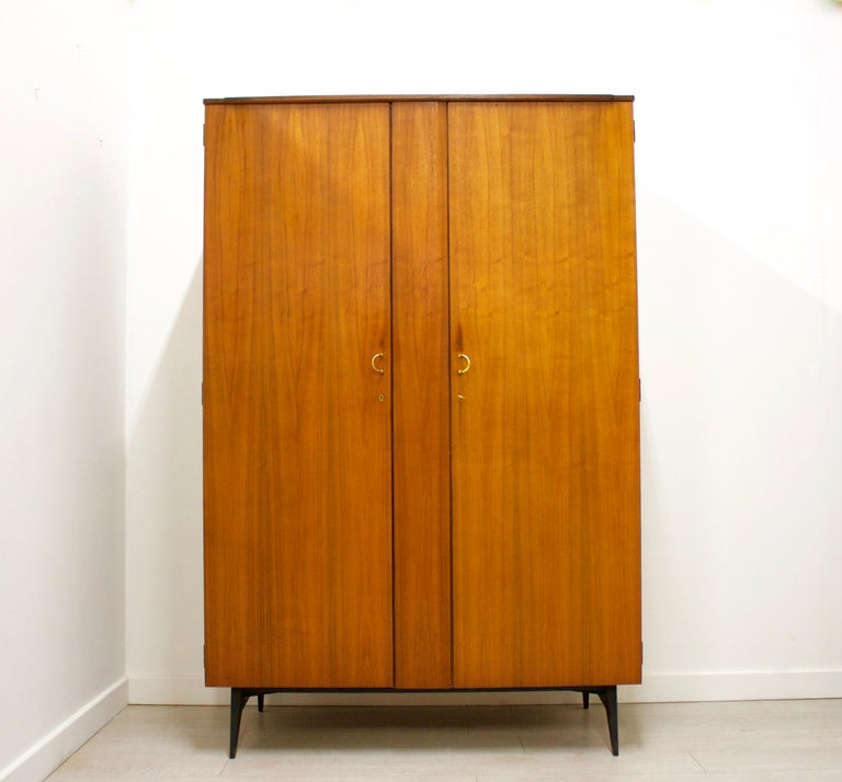 - Mid-Century Modern wardrobe - Manufactured by Meredew - Made from walnut and walnut veneer.