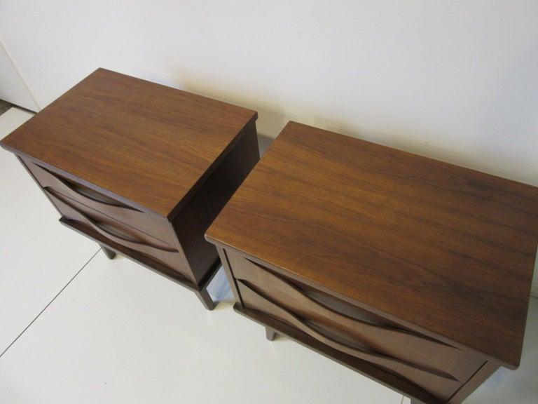 Midcentury Walnut Nightstands For Sale 5