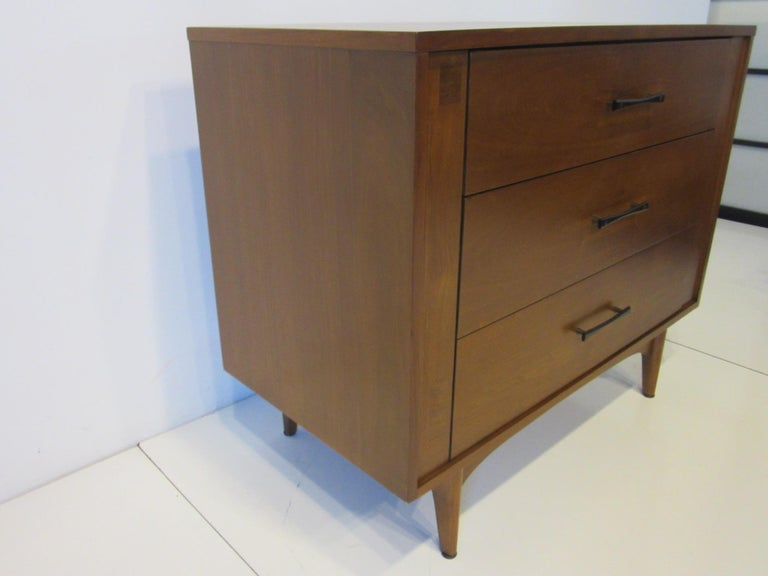 Mid-Century Modern Midcentury Small Chest Walnut / Rosewood  For Sale