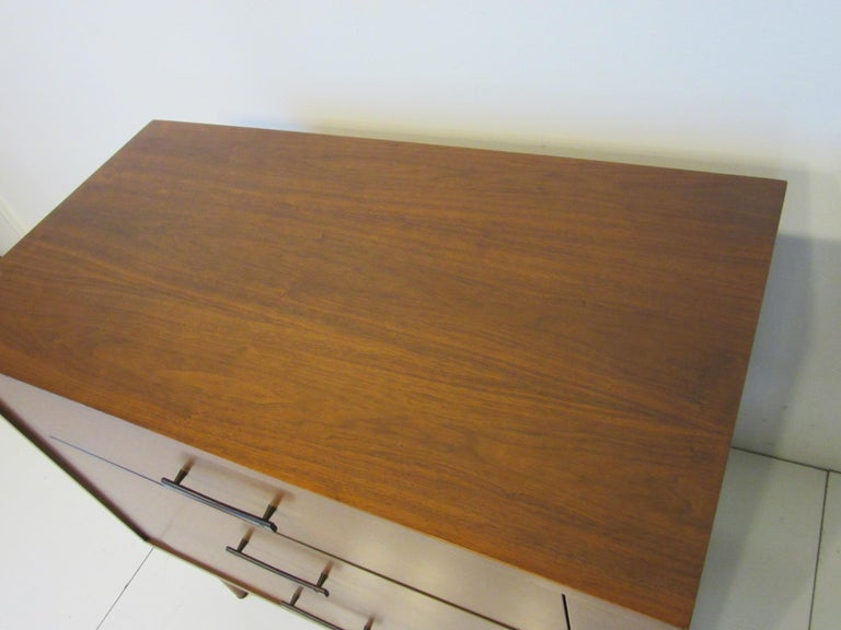 American Midcentury Small Chest Walnut / Rosewood  For Sale