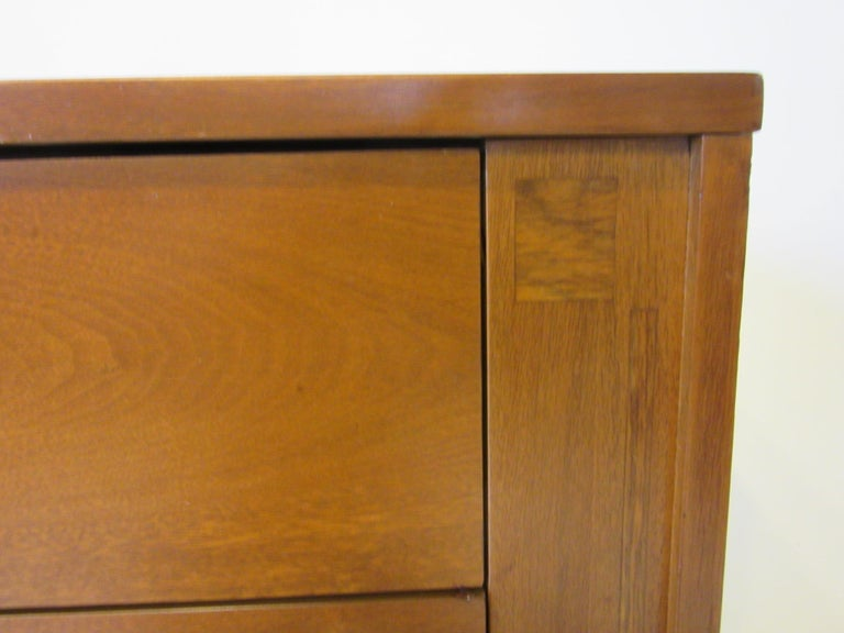 20th Century Midcentury Small Chest Walnut / Rosewood  For Sale