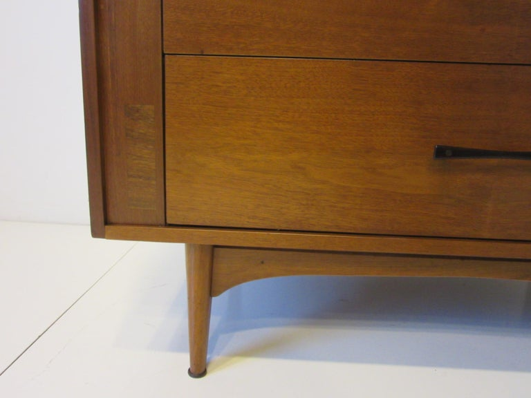 Midcentury Small Chest Walnut / Rosewood  For Sale 1