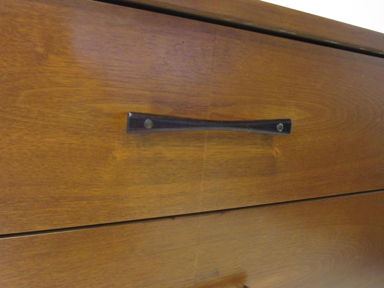 Midcentury Small Chest Walnut / Rosewood  For Sale 2