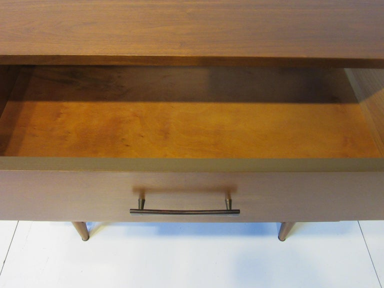 Midcentury Small Chest Walnut / Rosewood  For Sale 3