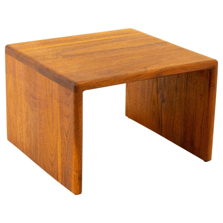 Mid Century Walnut Side End Table For Sale