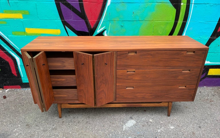 Mid-Century Modern Midcentury Walnut, Sideboard by American of Martinsville For Sale