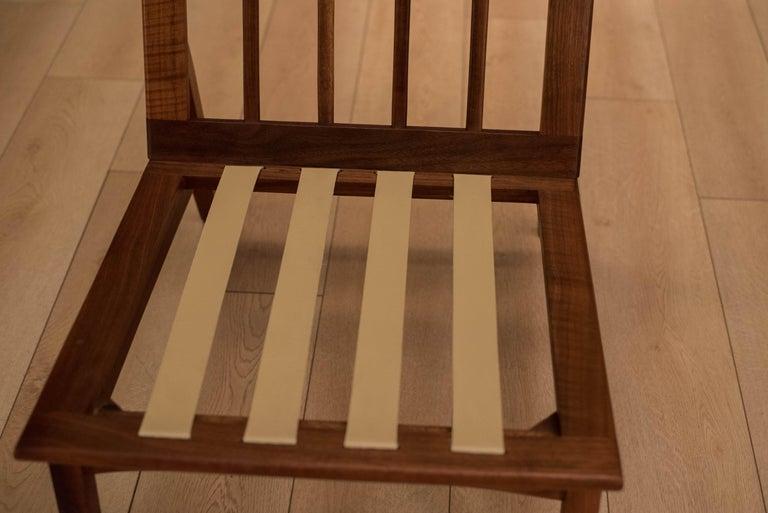Mid Century Walnut Slipper Lounge Chair For Sale 4