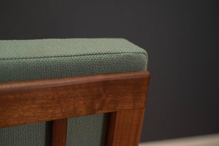 Mid Century Walnut Slipper Lounge Chair For Sale 5