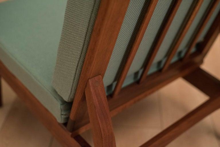 Mid Century Walnut Slipper Lounge Chair For Sale 7