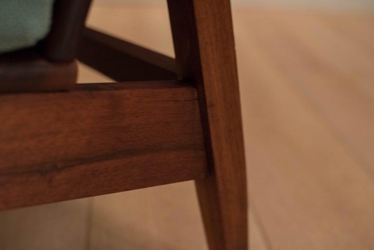 Mid Century Walnut Slipper Lounge Chair For Sale 8