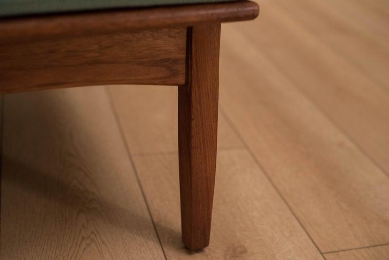 Mid Century Walnut Slipper Lounge Chair For Sale 9