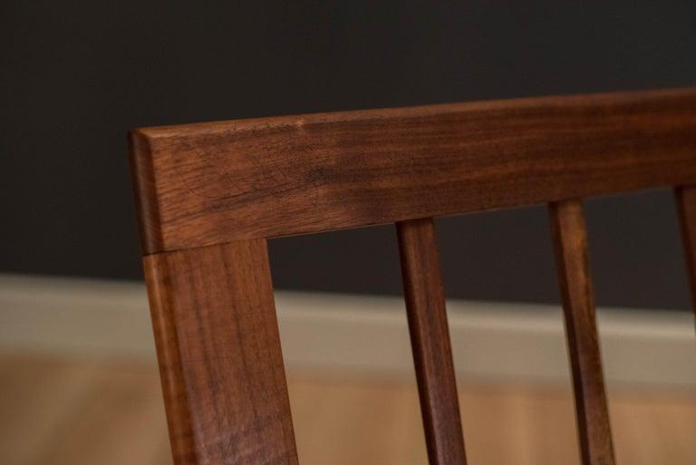 Mid Century Walnut Slipper Lounge Chair For Sale 12