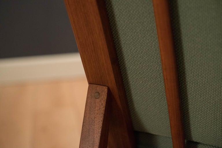 Mid Century Walnut Slipper Lounge Chair For Sale 3