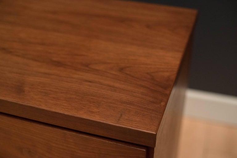 Mid Century Walnut Triple Dresser For Sale 4