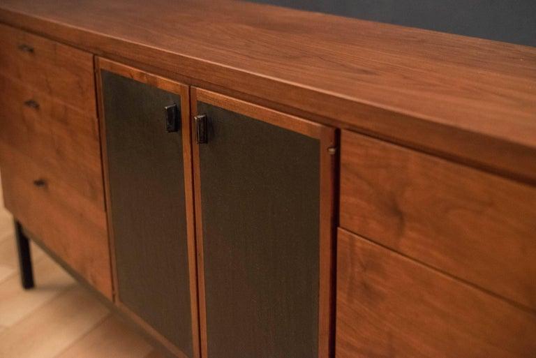 Mid-Century Modern Mid Century Walnut Triple Dresser For Sale