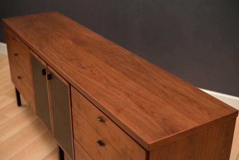 Mid-20th Century Mid Century Walnut Triple Dresser For Sale