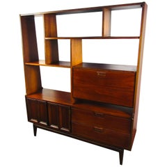 Midcentury Walnut Wall Unit