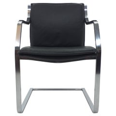 Mid Century Walter Knoll Leather Art Collection Chair by Rudolf B. Glatzel, 1980