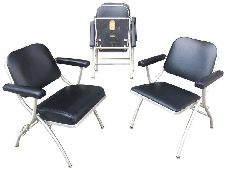 Aluminum Midcentury Warren McArthur Chairs For Sale