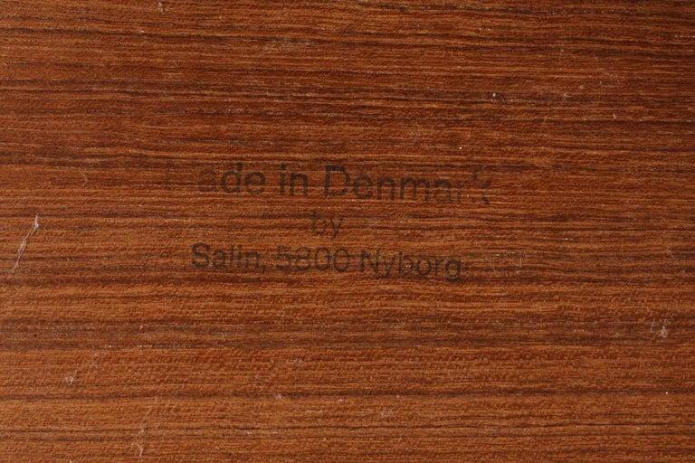 Midcentury Waste Bin in Solid Teak, Made in Denmark In Good Condition For Sale In Lejre, DK