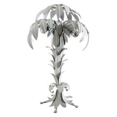 Mid-Century White Palm Tree Table Lamp by Hans Kögl, 1970s