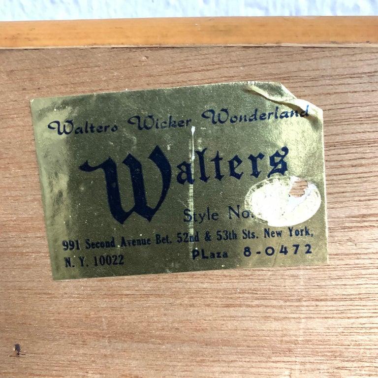 Midcentury Wicker Cane Rattan Bamboo Mirror by Walters Wicker Wonderland, 1970s For Sale 3