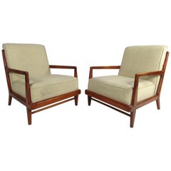 Midcentury Widdicomb Lounge Chairs, a Pair