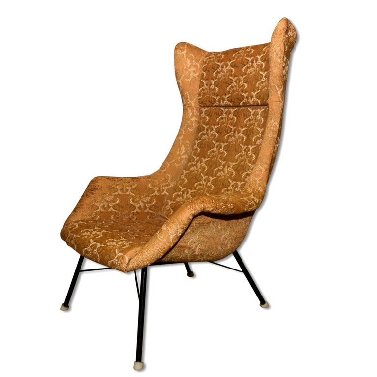 Midcentury Wingback Chair by Miroslav Navratil, Czechoslovakia, 1960s