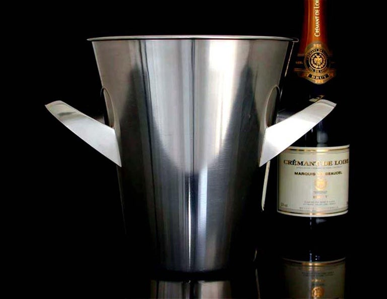 Midcentury WMF Silver Plated Ice Bucket Wine Cooler by Kurt Mayer, 1950s For Sale 4